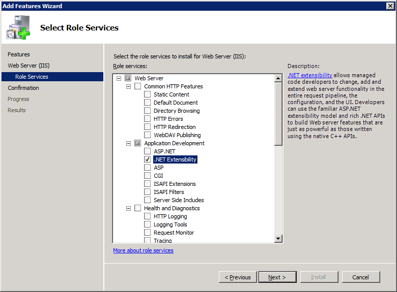 Citrix Licensing Prerequisites 5 Agree to the prompt to add role services required for.net Framework 3.5.1.