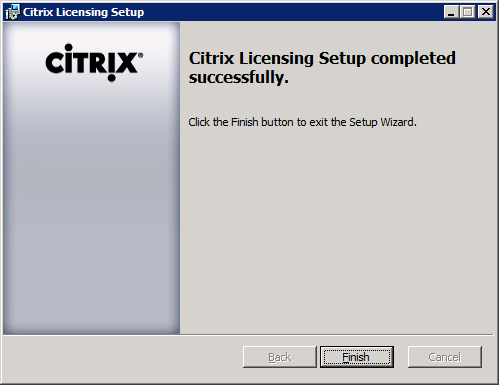 Installing Citrix License Server 11.9 4 Specify the path to install Citrix Licensing 11.9. ***NOTE*** The default installation path will be: C:\Program Files (x86)\citrix\ This path should be used for the majority of installations.