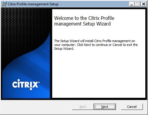 Citrix User Profile Manager Citrix User Profile Manager - Client Side Installation Citrix User Profile Manager Client Side Installation 1 Connect and authenticate to the machine that will be is the