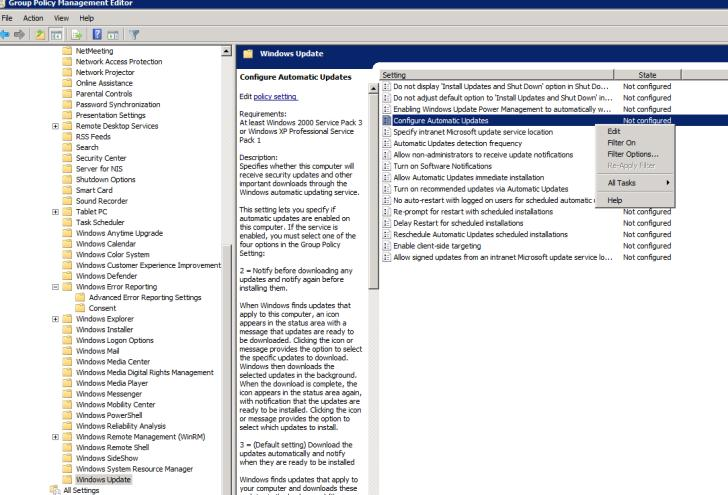 Windows 7 Desktop Optimizations 6 Expand the navigation tree in Group Policy Management Editor to the following path: Computer Configuration > Policies > Administrative Templates > Windows Components