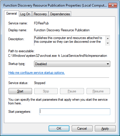 Windows 7 Desktop Optimizations 21 From the Services MMC Snap-In, locate the Background Intelligent Transfer Service service and double-click it in the Name area.