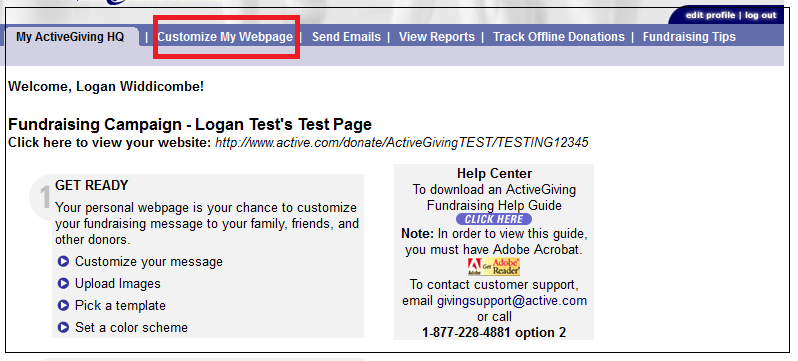 5. Create Your Team Fundraising Page Getting Started 1.