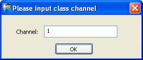 6. Next, the system installs the functional driver on the computer. While this is being done, the screen flickers. This is normal. 7. Select the class channel.