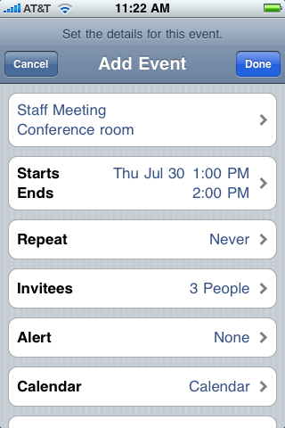Open and respond to a meeting invitation in an email message: Tap the invitation. You can manage and respond to the invitation here as well.