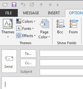Composing New Email To compose new mail, simply start form the Home menu and click on the New Email icon on the top left of the application. A window similar to the one below will open.