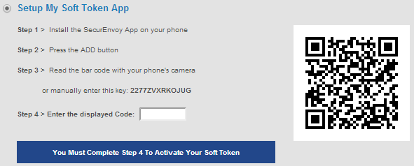 6.2 Soft Token Support SecurEnvoy now provides soft tokens for your phone to generate one time passcodes (OTP) for two factor authentication that can be checked by your company's SecurEnvoy server.