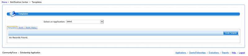 Select an application from the dropdown menu. Applications must be published in order to appear in the dropdown list.