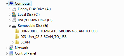 2 BASIC OPERATION Using scans saved in USB storage device When you select [USB] to save your scans, they are stored in the USB storage device connected to the equipment.