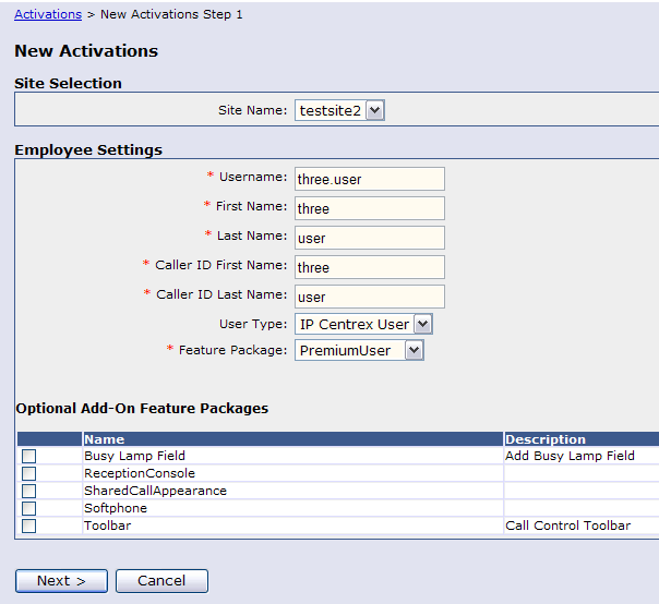 4. Select the Employee and Click Activate 5.