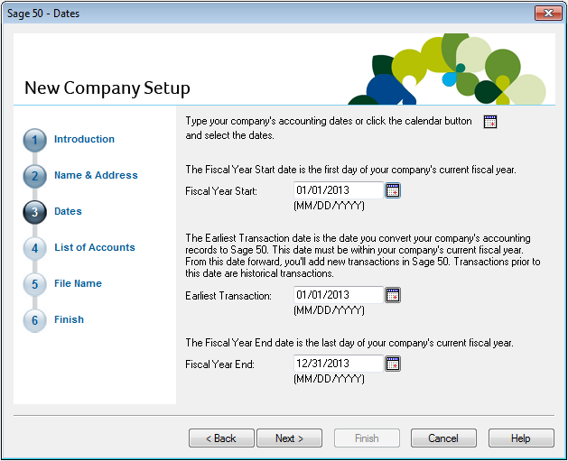 Setting Up Your Company Creating a New Company The New Company Setup Wizard guides you through the process of creating a new company in a few simple steps. Tip Converting from QuickBooks 2010?