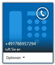Telephony Functions Lync (3/3) Before and after call Automatic status