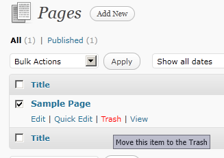 Creating the Home Page The home page for Wordpress by default is set to be your most recent blog post. We want to change that so that Wordpress presents a Page instead.