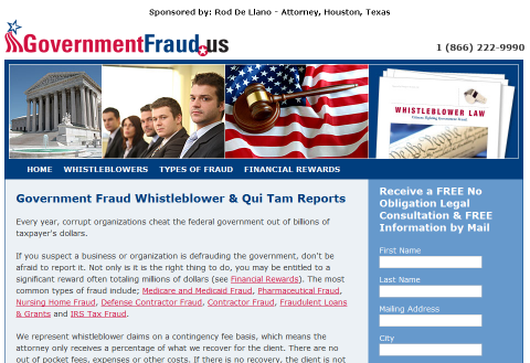 Figure 42, Google Ad Result, Screen captured in October, 2011 The firm then describes itself as the most successful whistleblower law firm. $6.9 billion recovered.