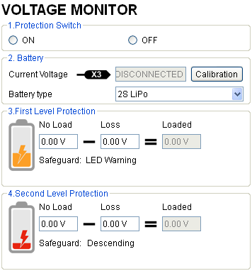 Make sure the connection between VU and MC (V-SEN to X3) is correct; otherwise the low voltage protection will not work properly. All two levels of protection have LED warning as default.