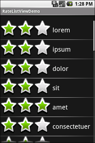 Getting Fancy With Lists Figure 30. The same application, showing a top-rated word...and Checking It Twice The rating list in the previous section works, but implementing it was very tedious.