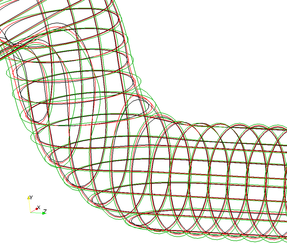 11.3. Optimisation of a 3D Double-Bent Pipe 167 (a) first bend (b) second bend Figure 11.20.