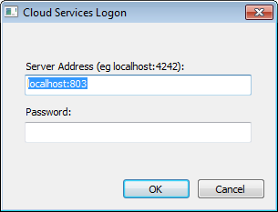 At any point after installation you can connect to the service using the Management Client (SSCloudServicesClient.exe). Note: By default this is accessible from:.