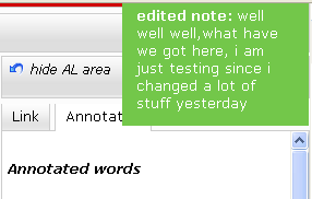feedback has been added (c) annotation display when annotation has been edited (d)