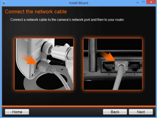 Configure Manual Wireless settings (without WPS) 2. Connect the network cable. Click Next to continue.