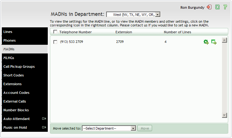 5. MULTIPLE APPEARANCE DIRECTORY NUMBERS (MADNS) A Multiple Appearance Directory Number (MADN) is a telephone number with no phone or line associated with it.