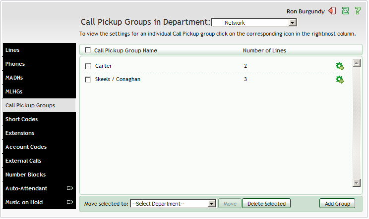7. CALL PICKUP GROUPS Group Call Pickup allows users to pick up calls that are ringing on other phones in the same business group by picking up their own phones and dialing an access code.