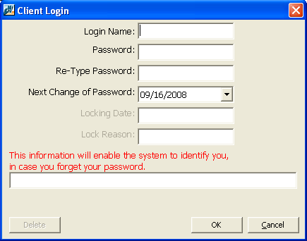 28 CHAPTER 1 17. If your organization uses ThePatron Edge Online, you can define or modify login information for the customer. To define a login name and password, click Login.