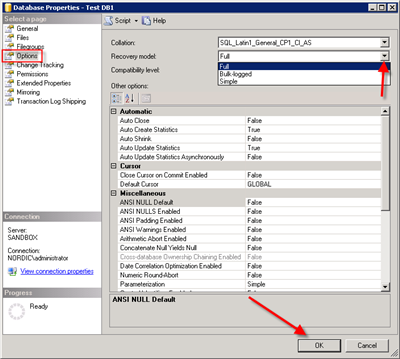 1 of 10 1/31/2014 4:08 PM copyright 2014 How to backup Microsoft SQL Server with Nordic Backup Pro Before creating a SQL backup set within Nordic Backup Pro it is first necessary to verify that the