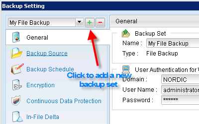 "4 of 10 1/31/2014 4:08 PM Open Nordic Backup Pro, then click on the ""Backup Setting"" button at the bottom."