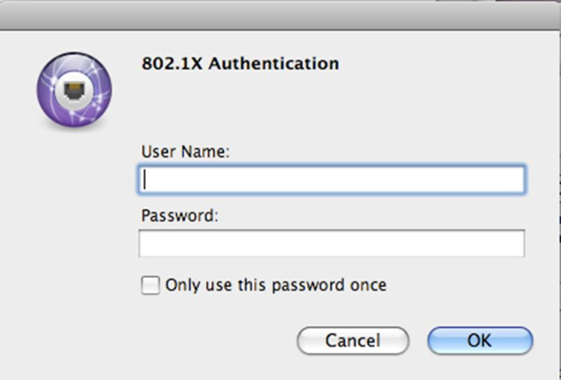 12. Click OK and click Apply. 13. In the 802.1X Authentication window.
