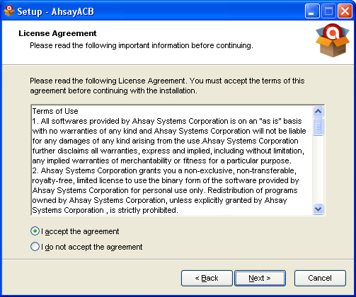 Installing Remote Backup (Ahsay) Software f.