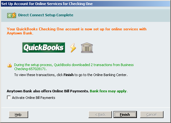 7. QuickBooks will retrieve a list of accounts available for you to download select the account you want to download and follow the remaining on-screen instructions. 8.