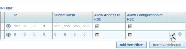 Check the Allow Access to RSC checkbox, then click the checkbox button to save changes.