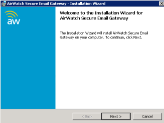 Step 2: Preparing for the Installation 1. Download the SEG Installer from the AirWatch Admin Console to the SEG server attached to your network.