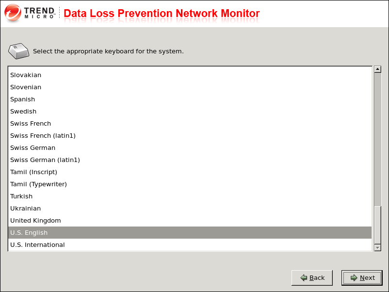 Installing Data Loss Prevention Network Monitor 4. Click Accept to continue.