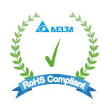 Others Delta RoHS Compliant Restriction of the usage of hazardous substances The European directive 2011/65/EC limits the maximum impurity level of homogeneous materials such as lead, mercury,