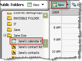 Posting a calendar item in a public folder You can post a calendar item only in a Calendar Items public folder. For details, see About the content types (on page 89).
