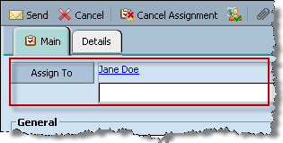 2 Enter the task name in the Subject text box. 3 Set a start date and due date for the task, if appropriate. 4 Enter all the other information as appropriate. 5 Click Assign To.