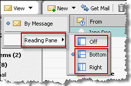 Changing how information displays in a message list These are ways to control how and how much information displays in a message list: Position the reading pane.
