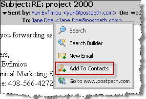 3 Click Save. Viewing contacts on detailed cards You can view contacts on detailed cards. Each detailed card shows the information you entered for the contact.
