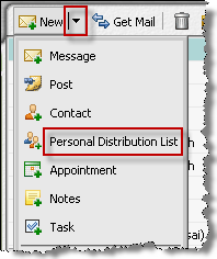Creating distribution lists A distribution list allows you to send messages to a group of people, without having to enter email addresses one by one. Example.