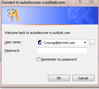 You may receive the following error message the first time you access the inbox or calendar.