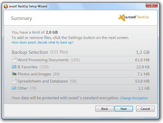 Installing avast! BackUp 4. If prompted, enter the password for this account. Scanning for Files avast!