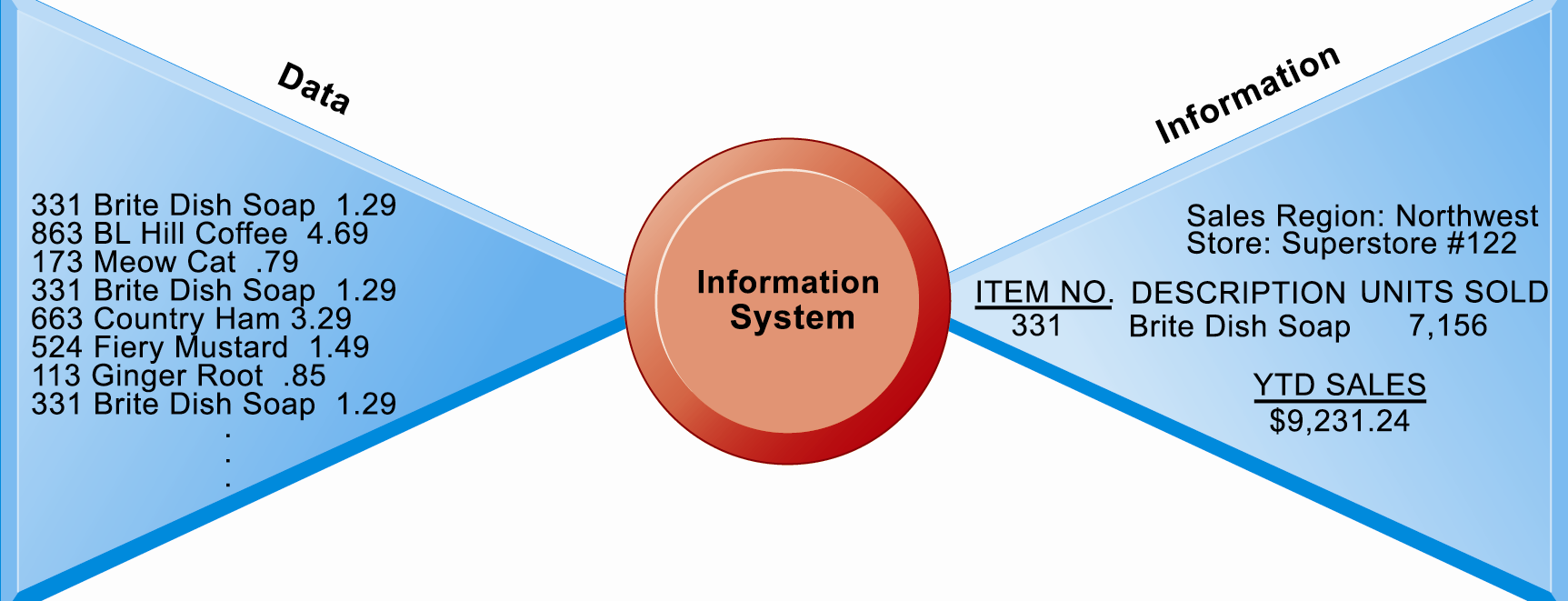 Perspectives on Information Systems Data and Information Figure 1.