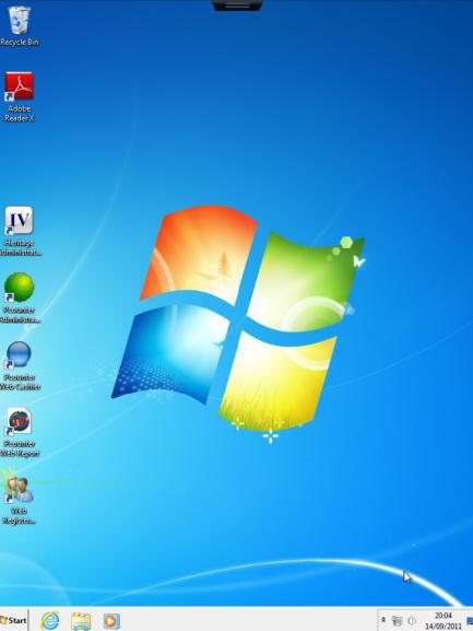 10. You are then taken to your virtual desktop Note: the only software available is the Office application.