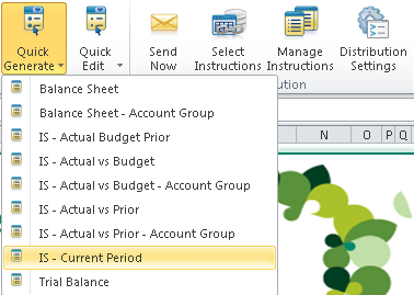 More Financial Report Options Sage 100 ERP Intelligence Reporting for the 2013 release includes enhancements to Financial Reports, such as a Current Month layout, so you can get values for a select