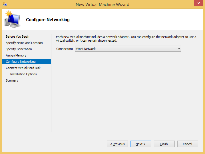 Then configure networking according to your current network settings. Now comes the main part.