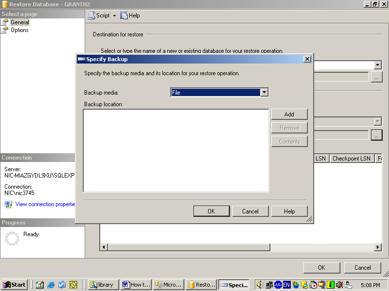 Select From Device Option Press button to browse db backup file 9.