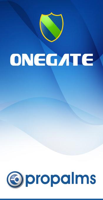 A Guide to New Features in Propalms OneGate 4.0 Propalms Ltd. Published April 2013 Overview This document covers the new features, enhancements and changes introduced in Propalms OneGate 4.