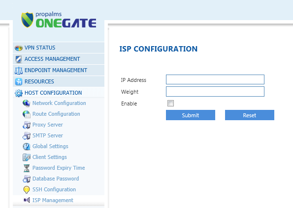 5. ISP Load Balancing Propalms OneGate now supports inbound connection load balancing. OneGate server can be accessible from multiple Internet service providers configured in the management console.