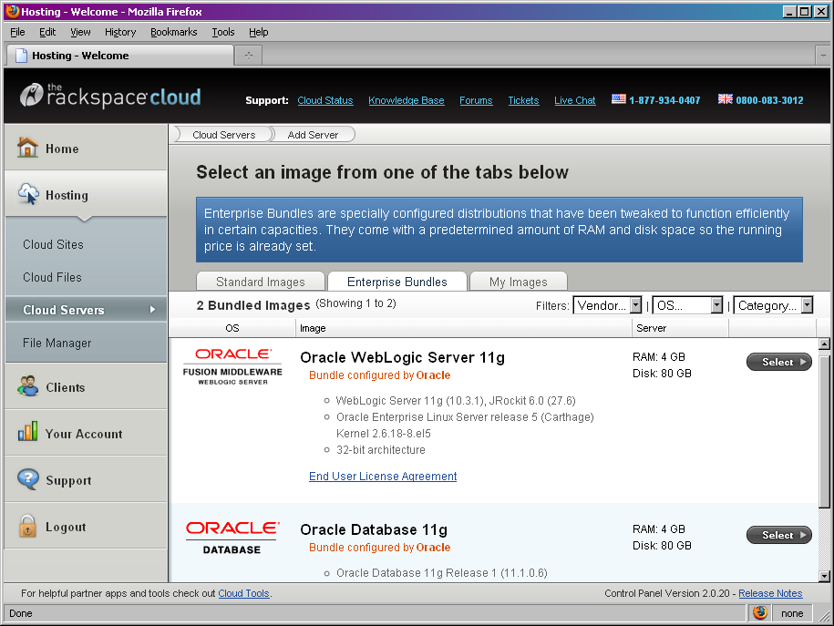 Oracle in Public Clouds Oracle Database, Fusion Middleware & Enterprise Manager supported on EC2 Amazon Machine Images (AMIs) Oracle